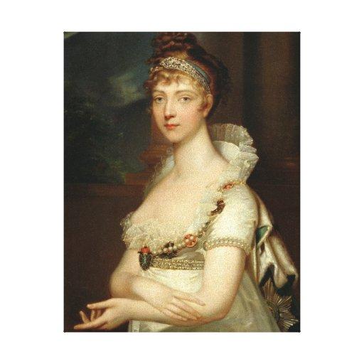 Emperatriz Elizabeth Alexejevna Impresiones En Lona Estiradas
