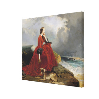 Emperatriz Eugenie en Biarritz, 1858 Impresión En Tela