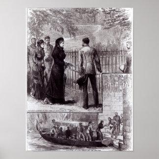 Emperatriz Eugenie que visita la tumba de Napoleon Póster