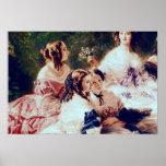 Emperatriz Eugenie y sus señoras en esperar Posters