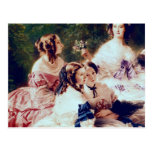 Emperatriz Eugenie y sus señoras en esperar Postales