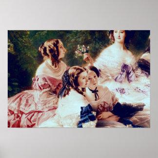 Emperatriz Eugenie y sus señoras en esperar Póster