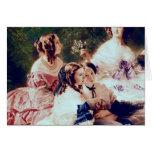 Emperatriz Eugenie y sus señoras en esperar Tarjeton