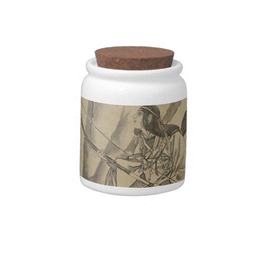 Emperatriz japonesa circa 1800s jarras para caramelos
