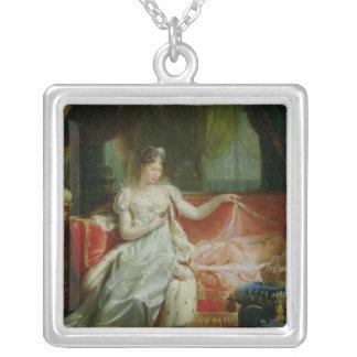 Emperatriz Marie-Louise y el rey de Roma, 1812 Colgante Cuadrado
