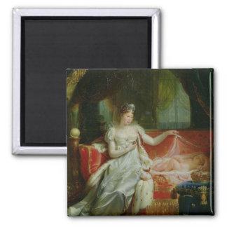 Emperatriz Marie-Louise y el rey de Roma, 1812 Imán Cuadrado
