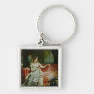 Emperatriz Marie-Louise y el rey de Roma, 1812 Llavero Cuadrado Plateado