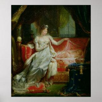 Emperatriz Marie-Louise y el rey de Roma, 1812 Póster