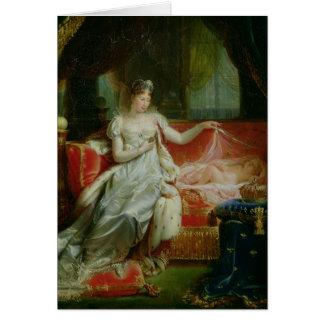 Emperatriz Marie-Louise y el rey de Roma, 1812 Tarjeta De Felicitación