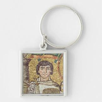 Emperatriz Teodora Llavero Cuadrado Plateado