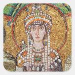 Emperatriz Teodora Pegatina Cuadrada