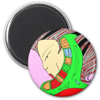 Emperatriz verde imán redondo 5 cm