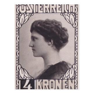 Emperatriz Zita del diseño del sello de Koloman Mo Postales