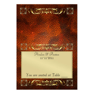 Emperior Amber Folding Table Placecard Large Business Cards (Pack Of 100)