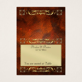 Emperior Amber Folding Table Placecard Business Card