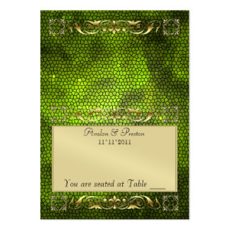 Emperior Lime Folding Table Placecard Large Business Card