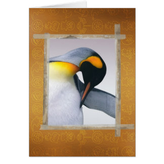 Emperior penguin card