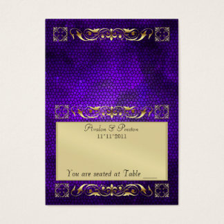Emperior Purple Folding Table Placecard Business Card