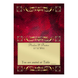 Emperior Red Folding Table Placecard Large Business Card