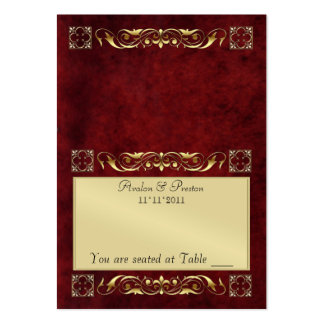 Emperior Rosewood Folding Table Placecard Large Business Card