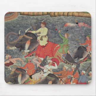 Emperor Akbar  crossing the River Ganges Mouse Pad