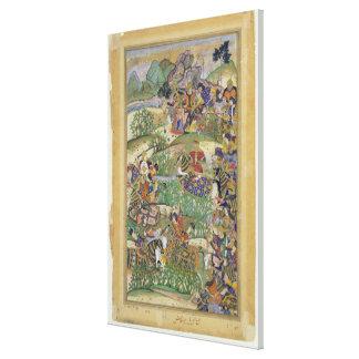Emperor Akbar (r.1556-1605) at the battle of Samal Canvas Print