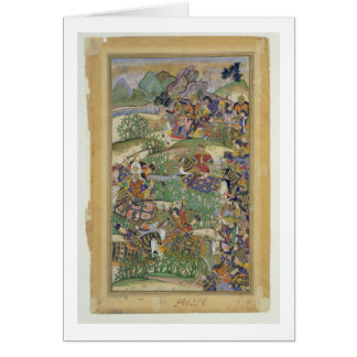 Emperor Akbar (r.1556-1605) at the battle of Samal Card