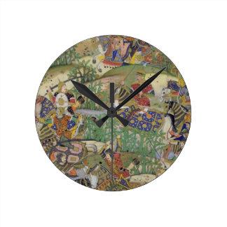 Emperor Akbar (r.1556-1605) at the battle of Samal Round Clock