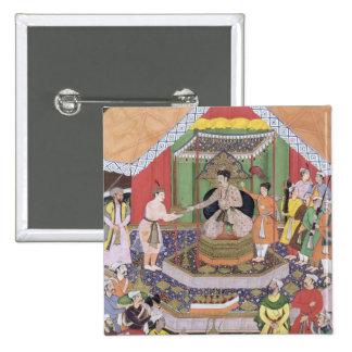 Emperor Akbar (r.1556-1605) entertained by his fos Button