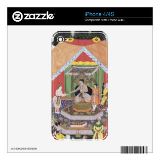 Emperor Akbar (r.1556-1605) entertained by his fos iPhone 4 Skins