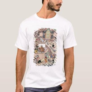 Emperor Akbar (r.1556-1605) inspecting the buildin T-Shirt