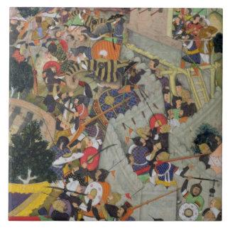 Emperor Akbar (r.1556-1605) shoots Saimal at the S Ceramic Tile