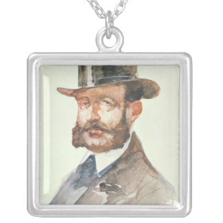 Emperor Alexander II  at the Races Silver Plated Necklace