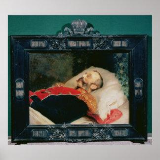 Emperor Alexander II  on His Deathbed, 1881 Poster