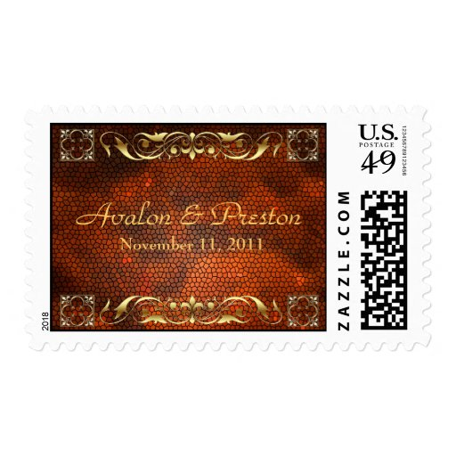 Emperor Amber Save The Date Postage