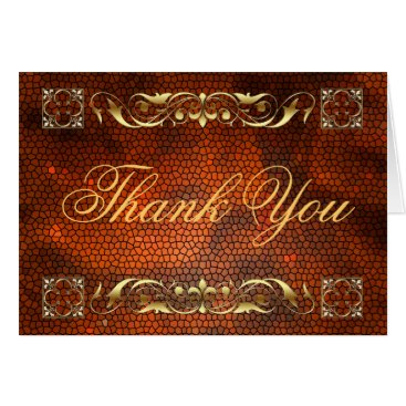 Professional Business Emperor Amber Stained Glass Thank You NoteCard