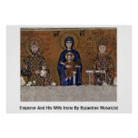 Emperor And His Wife Irene By Byzantine Mosaicist Print