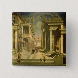 Emperor Augustus and the Sibyl, 1535 Button