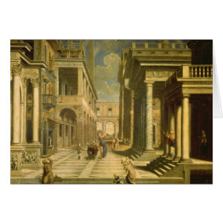 Emperor Augustus and the Sibyl, 1535 Card