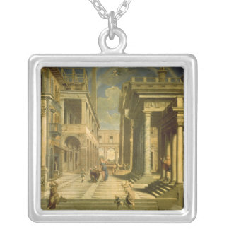 Emperor Augustus and the Sibyl, 1535 Silver Plated Necklace
