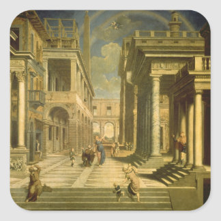 Emperor Augustus and the Sibyl, 1535 Square Sticker