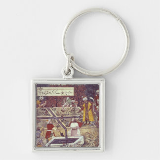 Emperor Babur and his architect plan Keychain