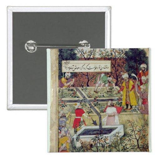 Emperor Babur Pinback Button