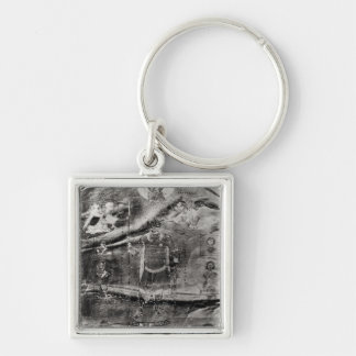 Emperor Basil II receiving a crown Keychain