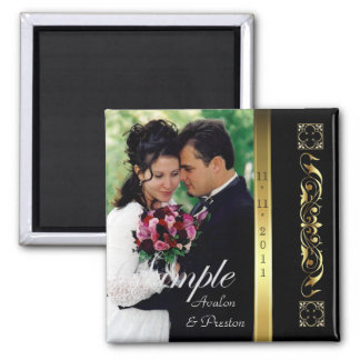 Emperor Black Photo Save The Date Magnet