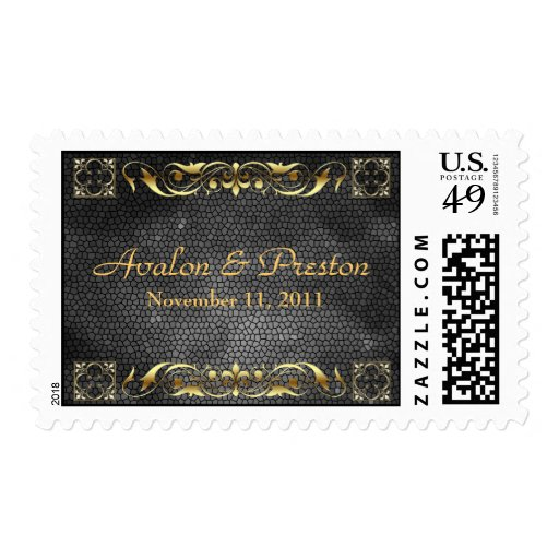 Emperor Black Save The Date Postage