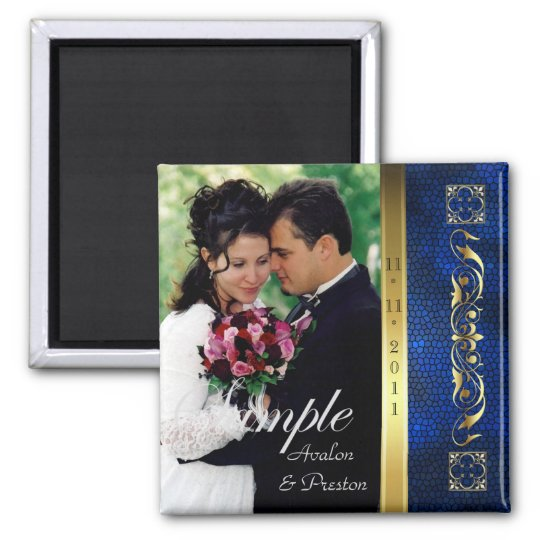 Emperor Blue Photo Save The Date Magnet