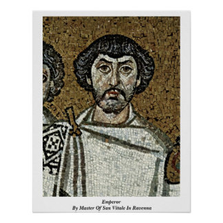 Emperor By Master Of San Vitale In Ravenna Posters