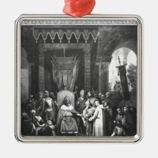 Emperor Charlemagne  Surrounded Principal Metal Ornament