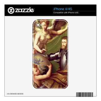 Emperor Charles V (1500-58) Receiving the World, c iPhone 4 Skins